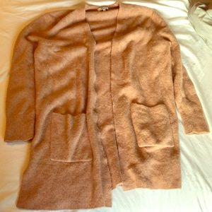 Madewell cardigan Ryder size M blush pink